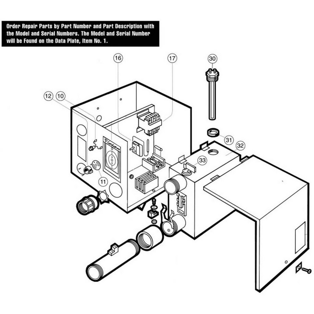 Hayward Heater PSE Models 12-54 Heater image