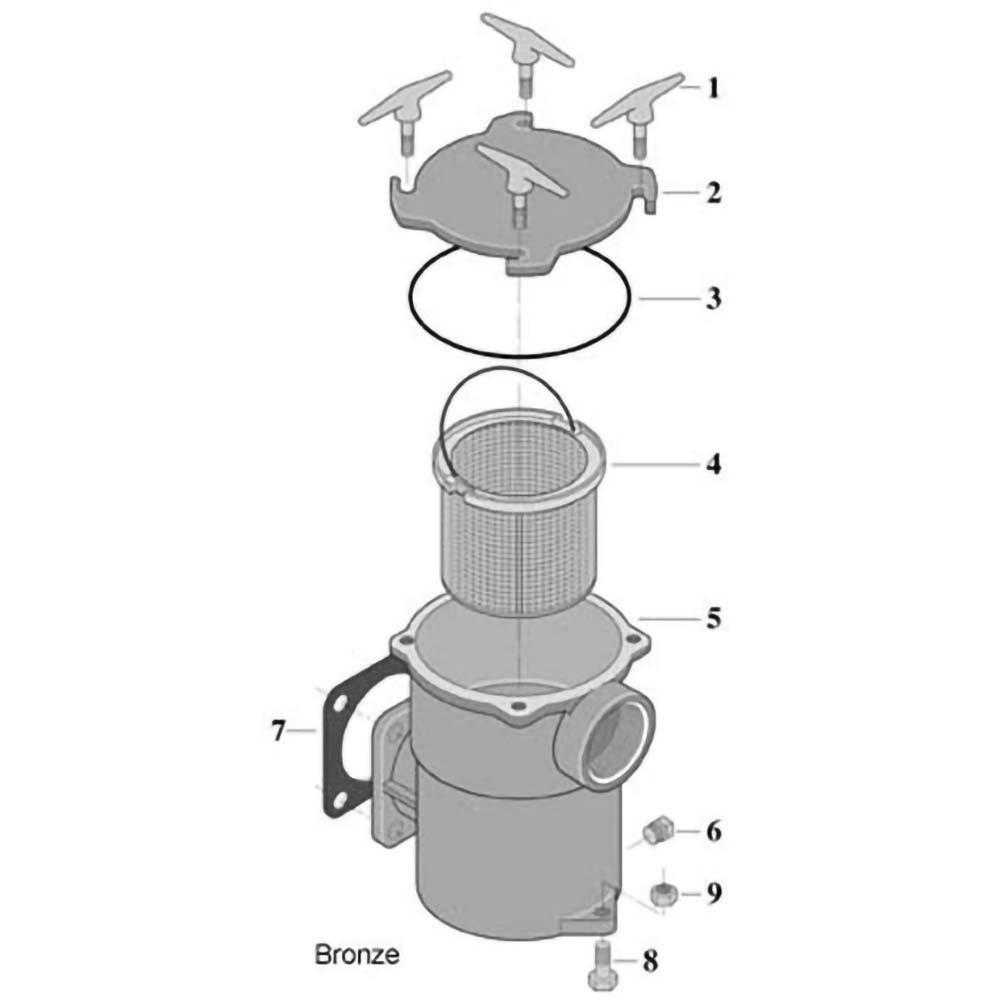 Sta-Rite Bronze Pump Hair & Lint Pot Pump image