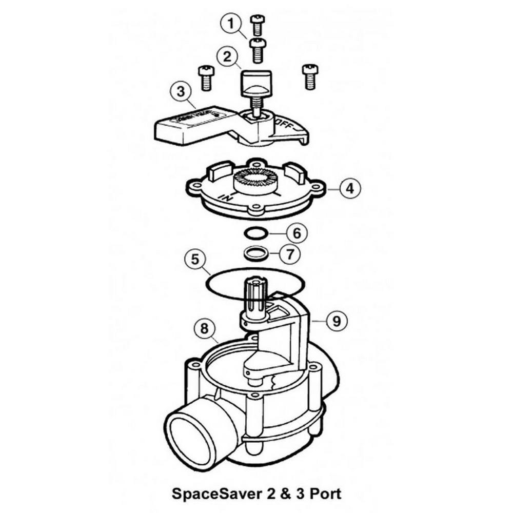 Jandy Ball & Diverter Valves SpaceSaver Valves image