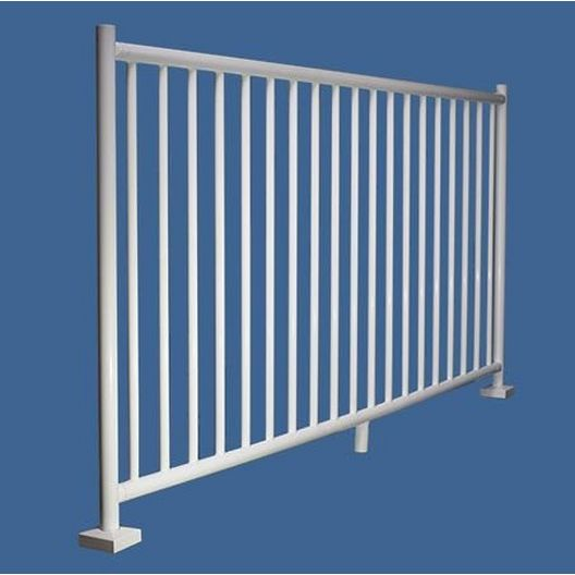 "48"" x 8' 2200 Series Saftron Pool Fence Section, Black"