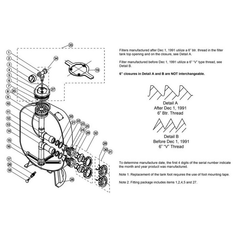Triton II Sand Filter Parts image