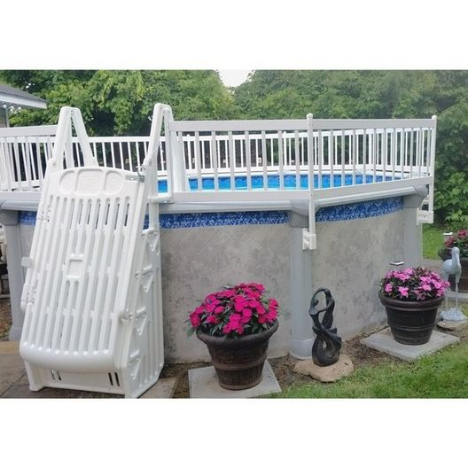 Premium 24in Resin Above Ground Pool Fence Kits