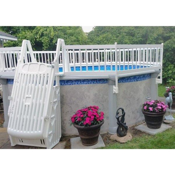 Image of: Vinyl Works Of Canada Premium 24in Resin Above Ground Pool Fence Kits