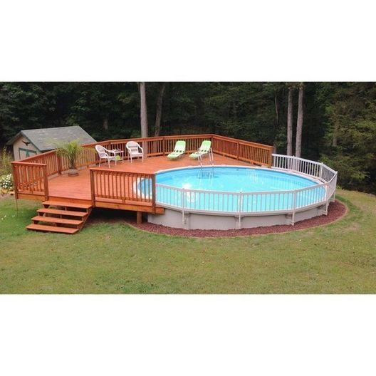 Vinyl Works Of Canada  Resin Above Ground Pool Fence Kit 2 Sections