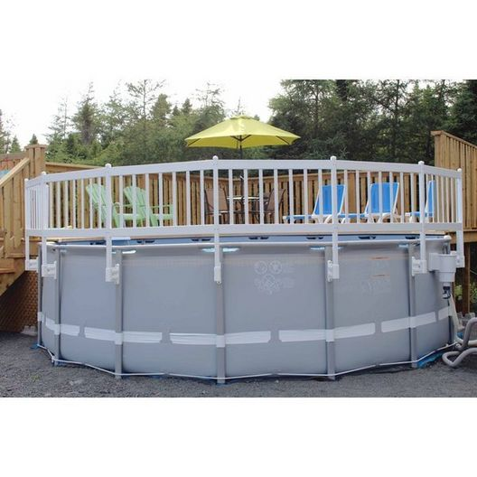 Resin Above Ground Pool Fence Kit, 8 Sections