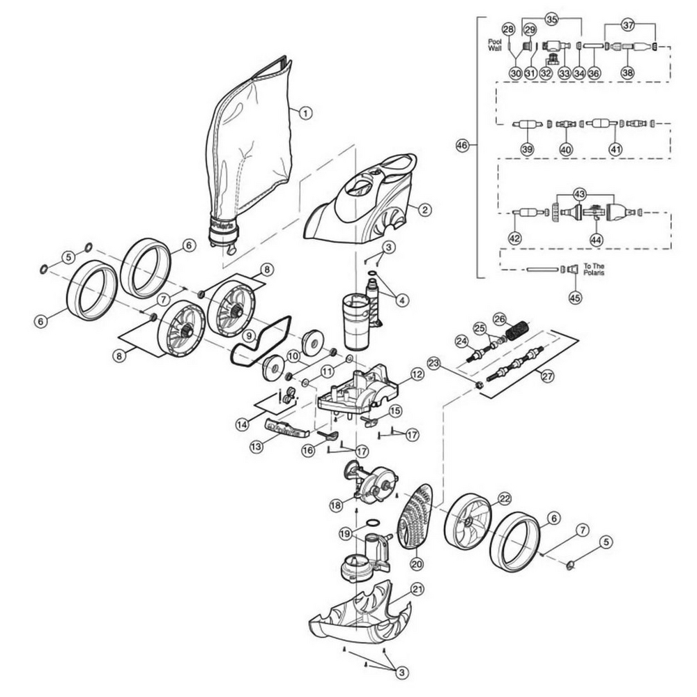 3900 Sport Pool Cleaner Parts image
