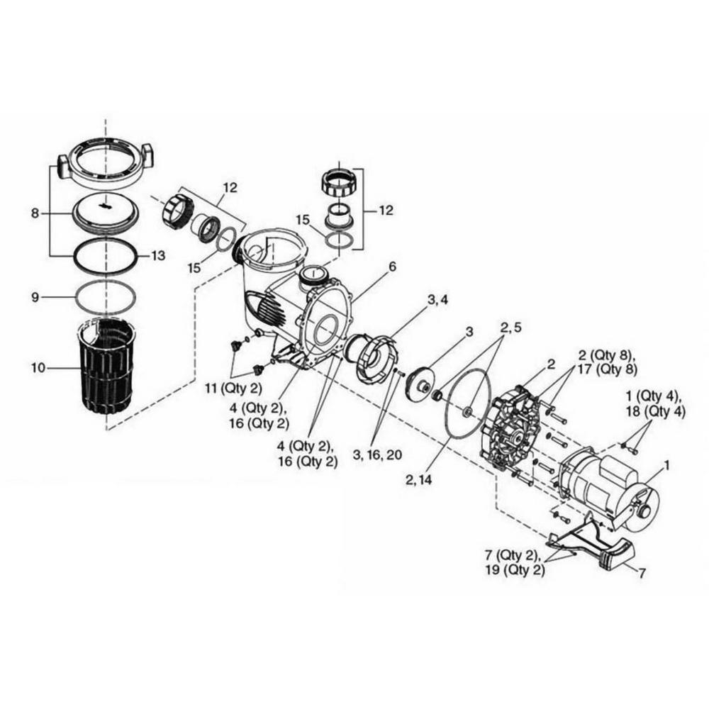 Jandy SWF WaterFall Series Pump image