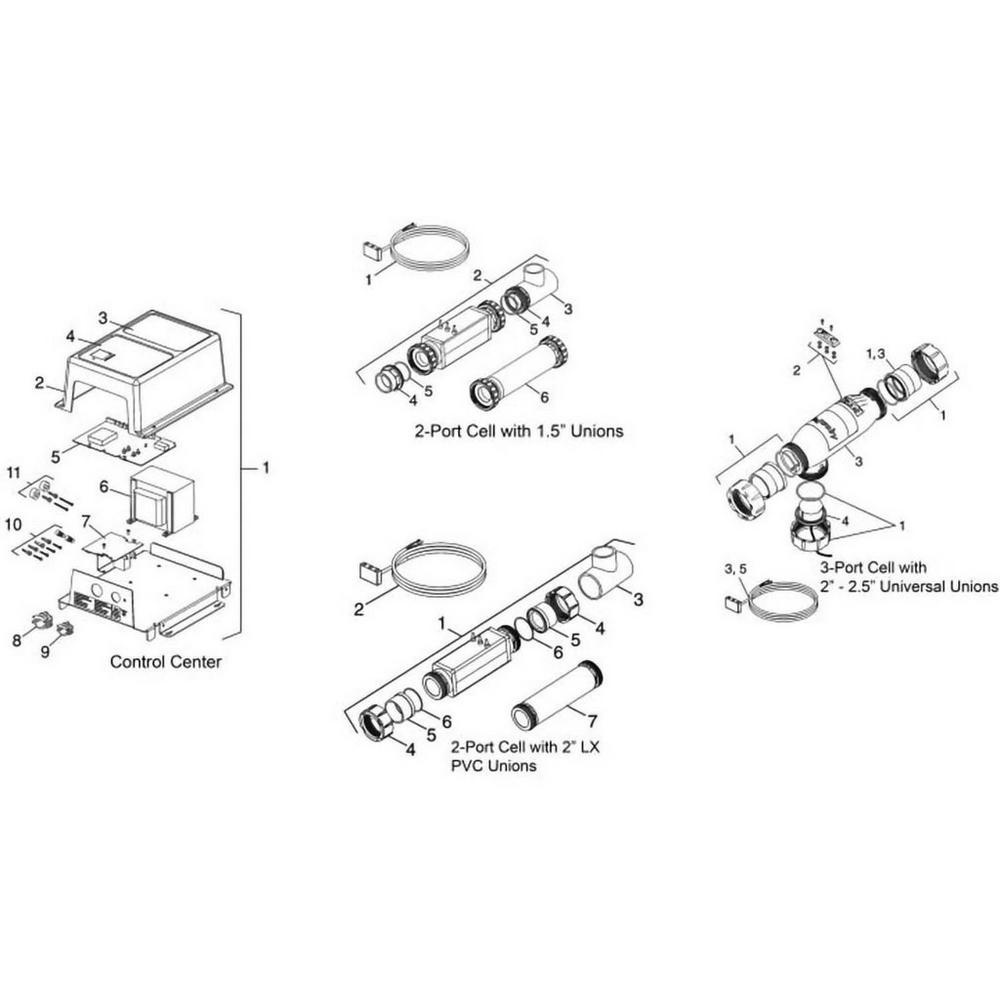 Jandy AquaPure Replacement Parts Salt Chlorine Generators image