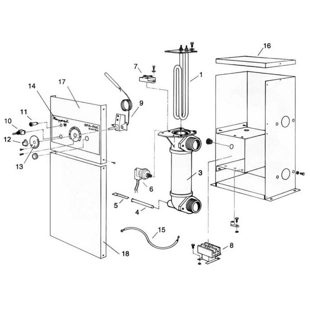Raypak Heater 552-2 & 1102-2 ELS Heater image