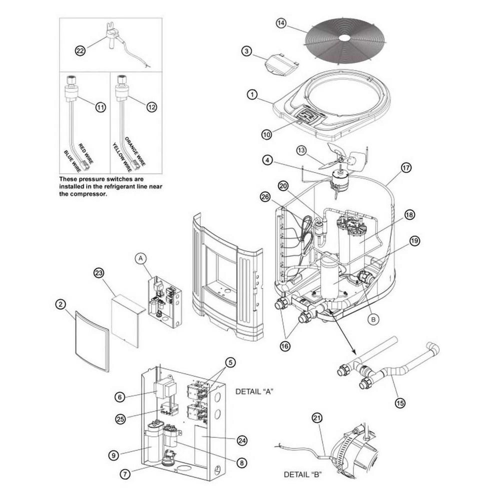 Jandy Heat Pump EE-Ti (EE1500, EE2000, EE2500, EE3000) Series image