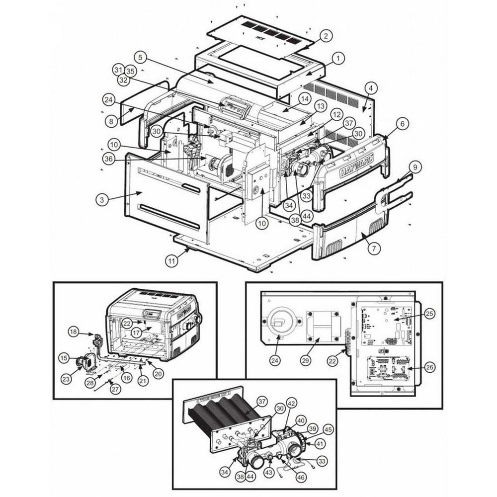 Hayward Heater Universal H-Series Low NOx H250FD, H350FD, H400FD image