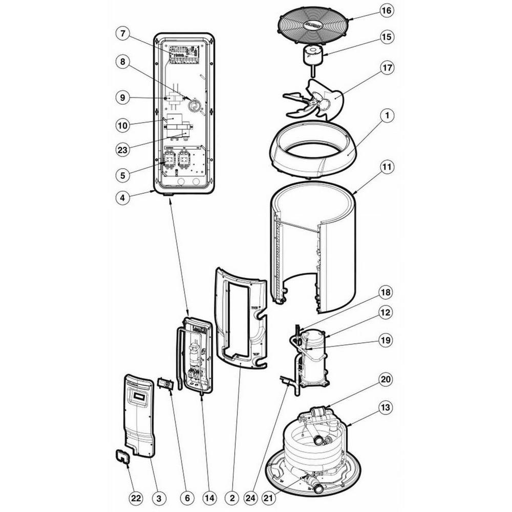 Hayward HeatPro Heat Pump HP20654T, HP20854T, HP21104T image