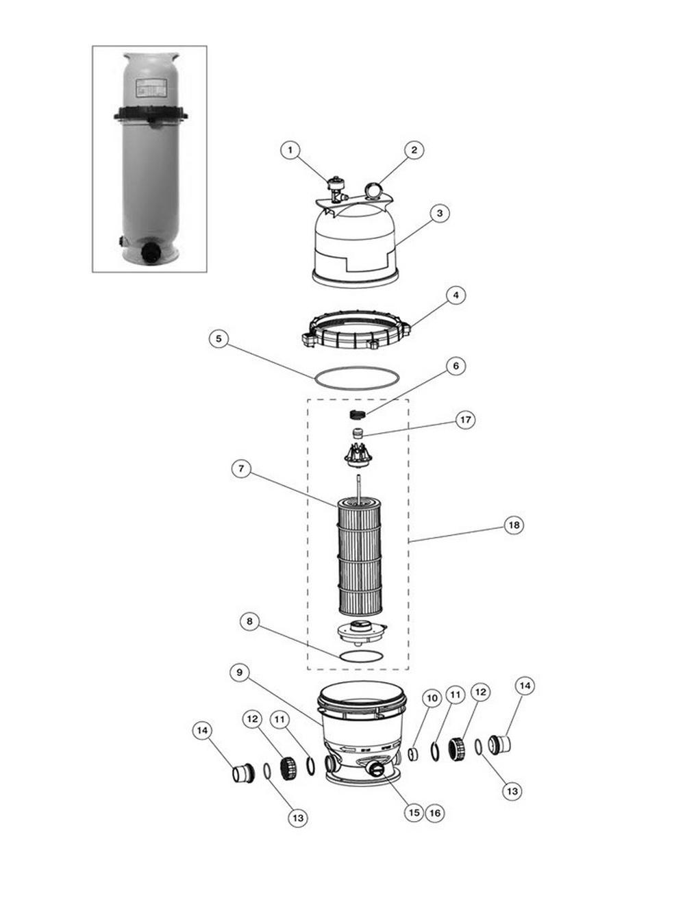 Pentair Easy Clean DE Filter Parts image