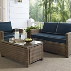 Bradenton Wicker Loveseat