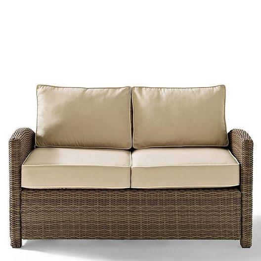 Crosley  Bradenton Sangria Cushion Wicker Loveseat