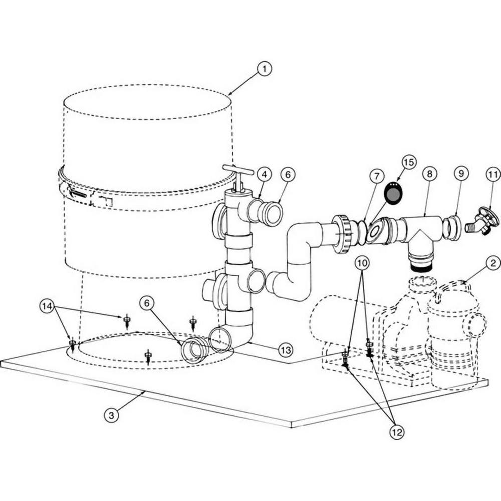 Pentair Challenger Pump to Filter Base Kit #185201 image