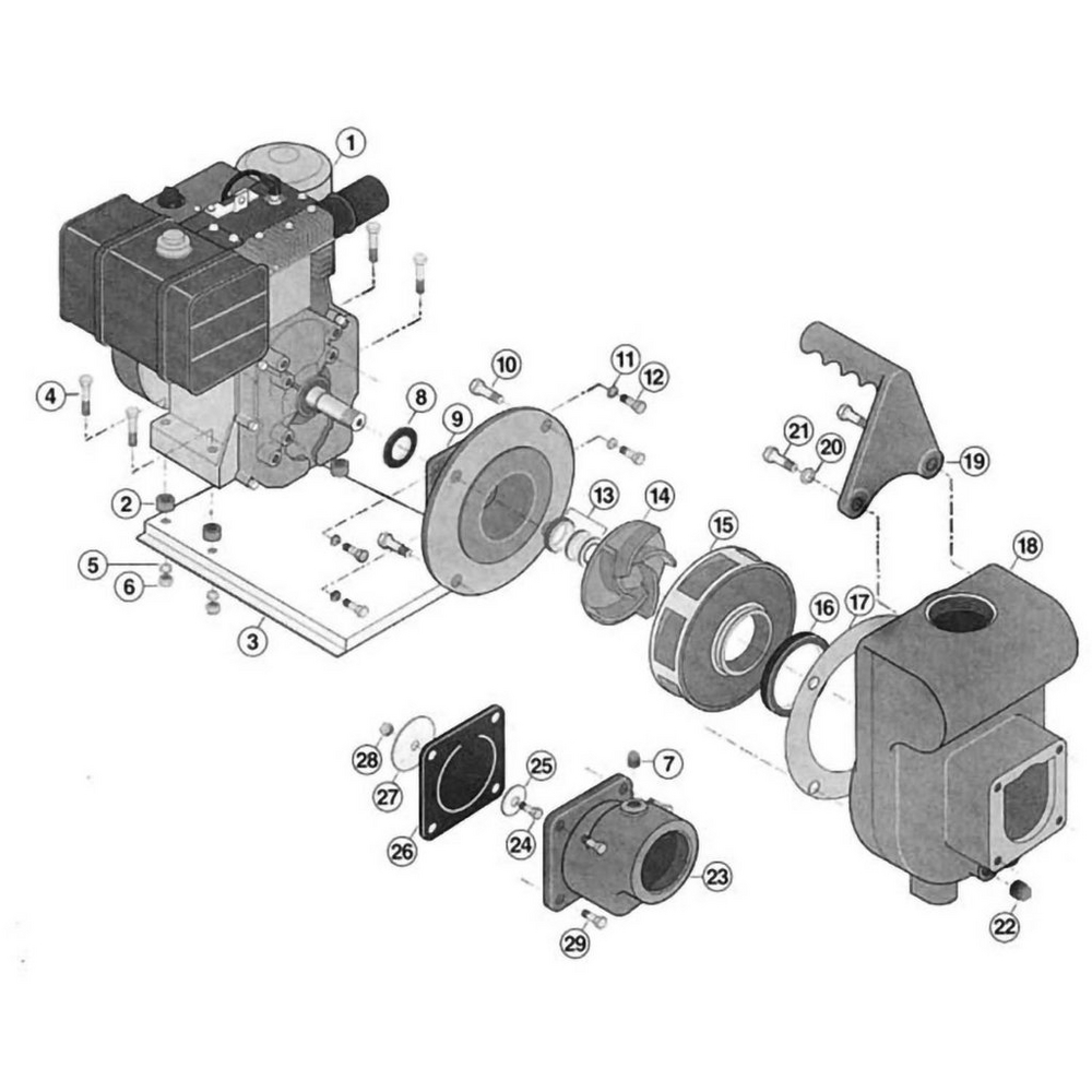 Sta-Rite Gas Engine Self Priming Centrifugal Pump Pump image