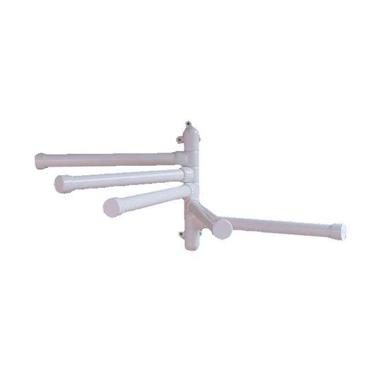 Wall Mounted Towel Rack, White