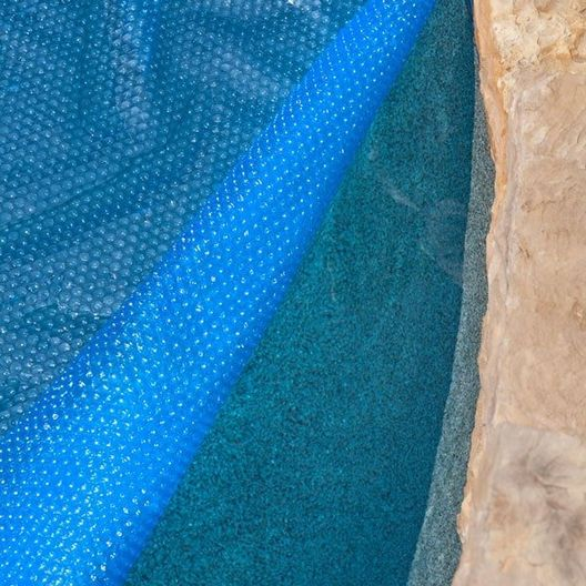 Midwest Canvas - 12' x 24' Oval Blue Solar Cover Three Year Warranty, 8 Mil - 71212