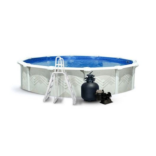 "24' Round Above Ground Pool Package with 52"" Wall"