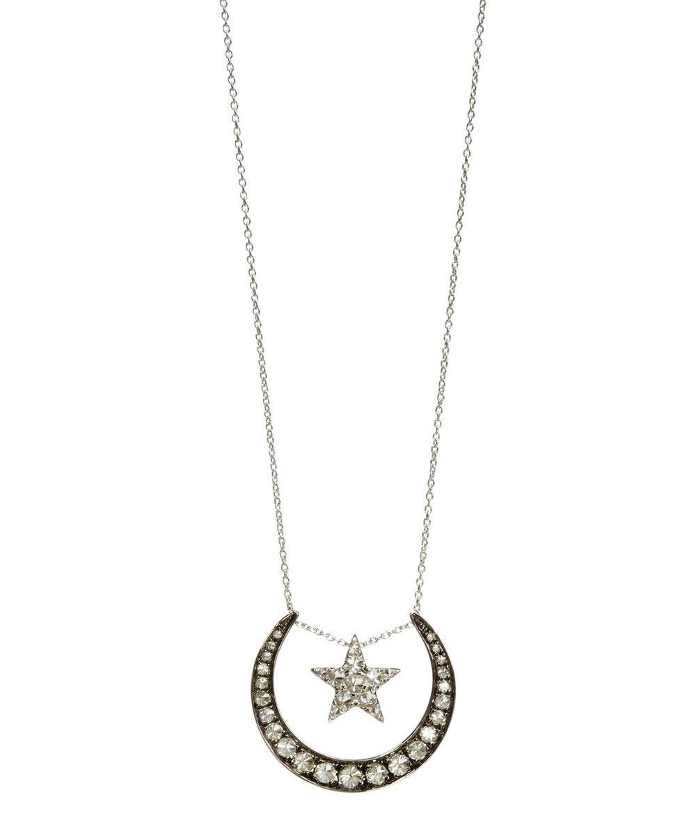 Annoushka - 18ct White Gold Love Diamonds Lunar Necklace