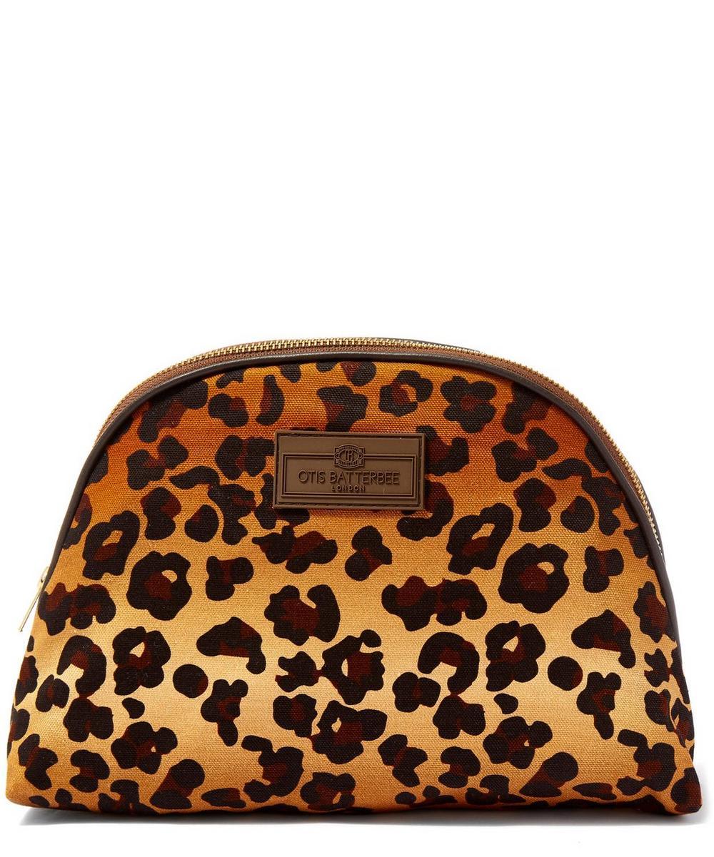 Otis Batterbee - Large Leopard Print Luna Makeup Bag