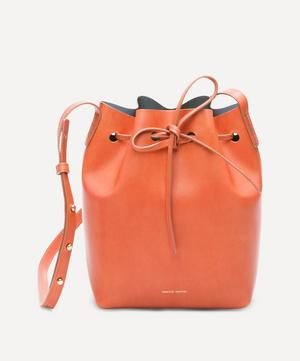 Vegetable Tanned Leather Mini Bucket Bag