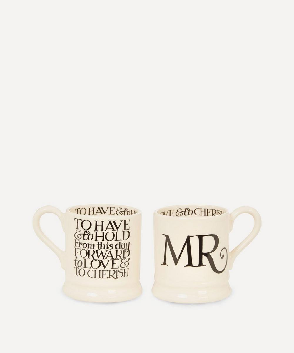 Emma Bridgewater - Mr. and Mr. Half Pint Mugs Set of Two