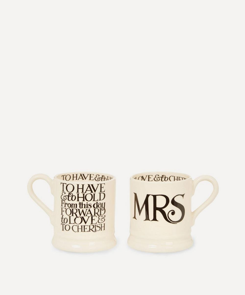 Emma Bridgewater - Mrs and Mrs Half Pint Mugs