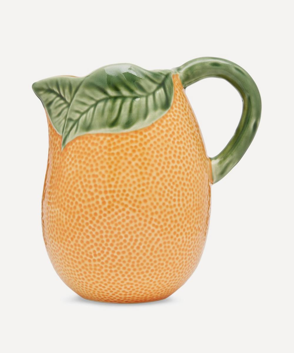 Bordallo Pinheiro - Orange Earthenware Pitcher
