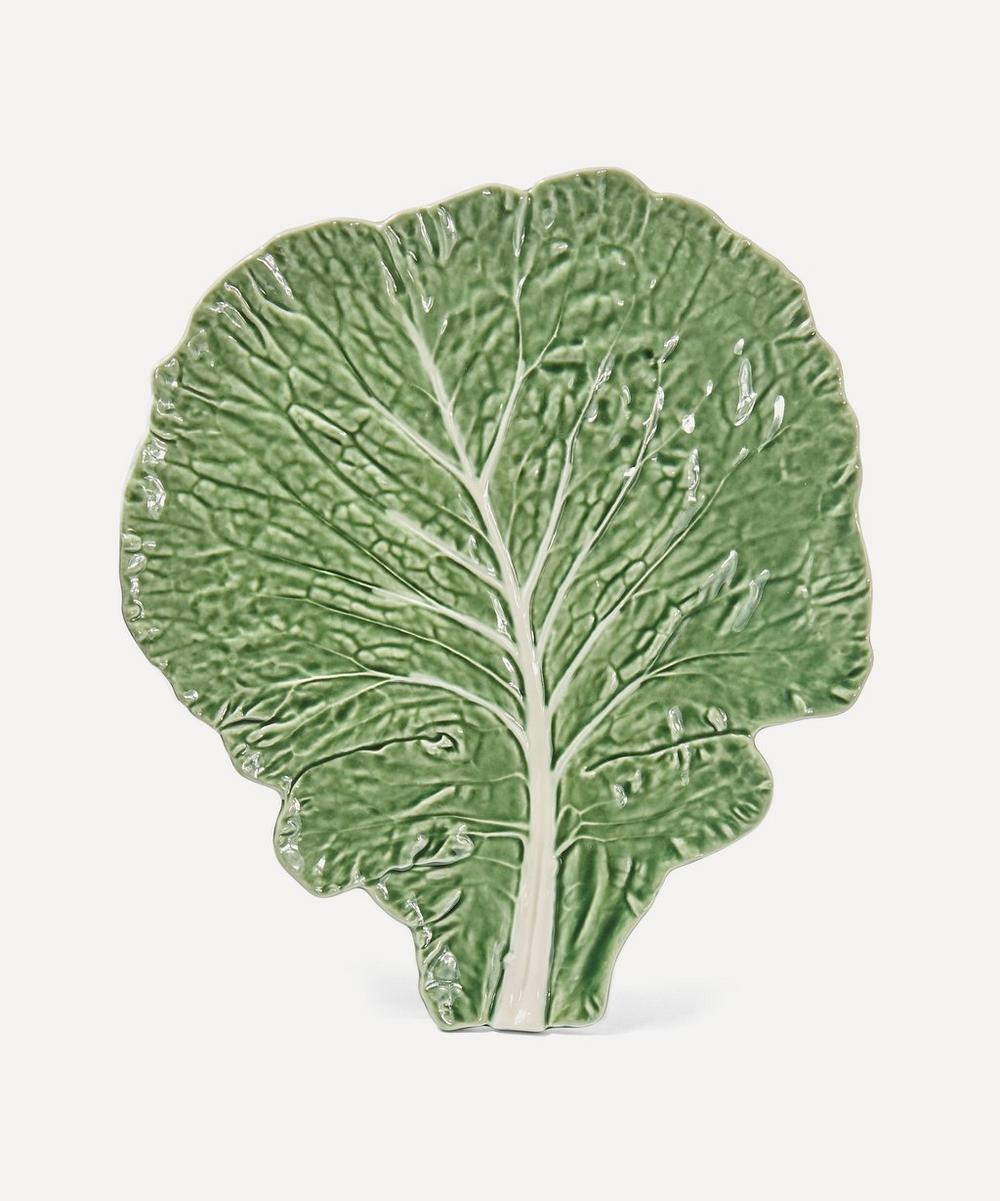 Bordallo Pinheiro - Large Cabbage Leaf Flat Plate image number 0