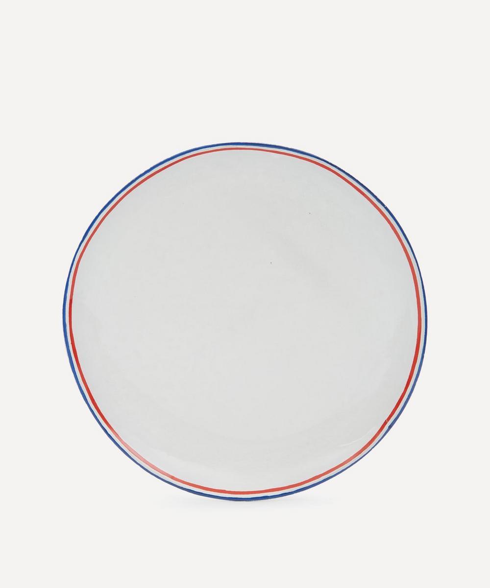 Astier de Villatte - Tricolore Dinner Plate