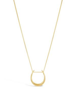 Gold Plated Vermeil Silver Toro Slider Pendant Necklace