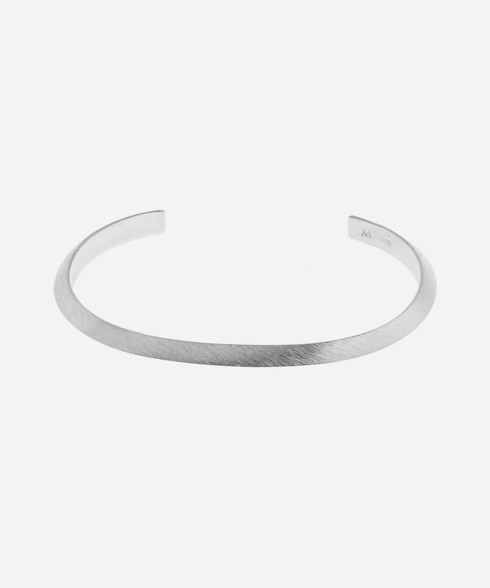 All Blues - Silver Brushed and Polished Triangle Bracelet