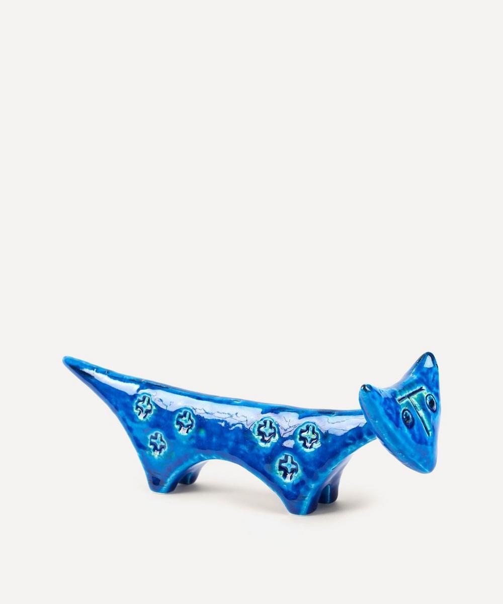 Bitossi - Rimini Blu Ceramic Cat Figure