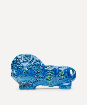 Rimini Blu Ceramic Lion Figure