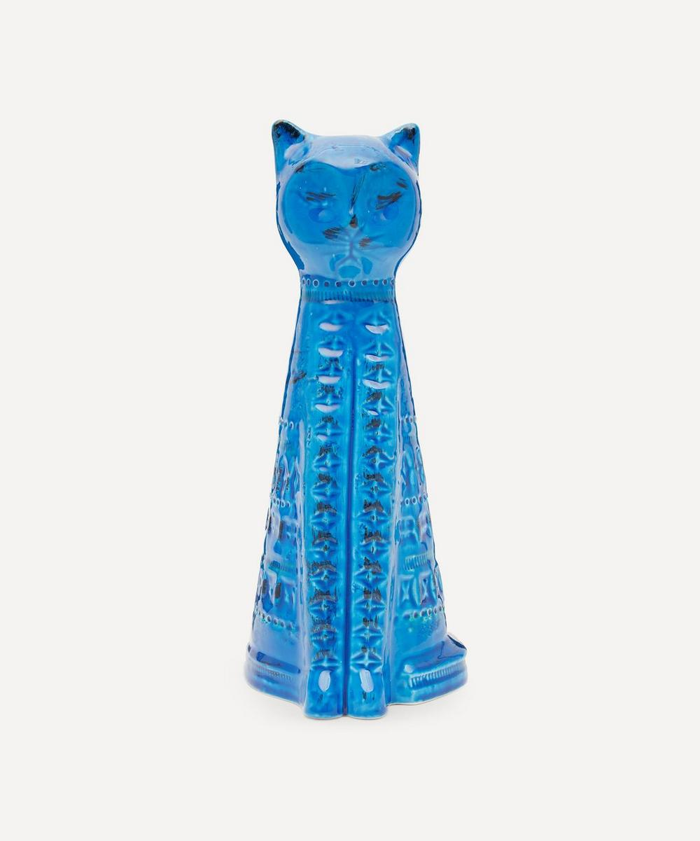 Bitossi - Rimini Blu Ceramic Tall Cat Figure