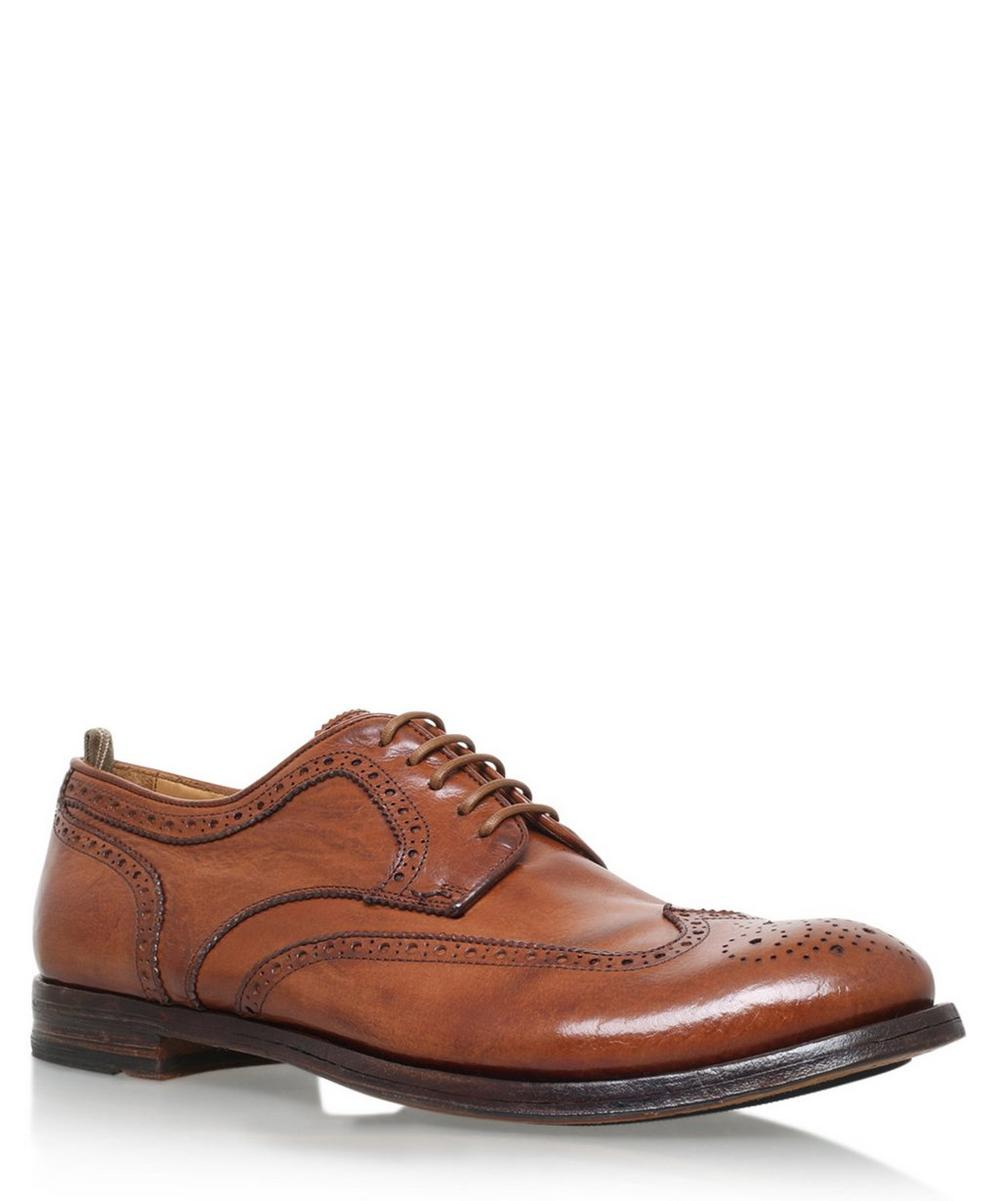 Officine Creative -  Leather Eyelet Derby Shoes