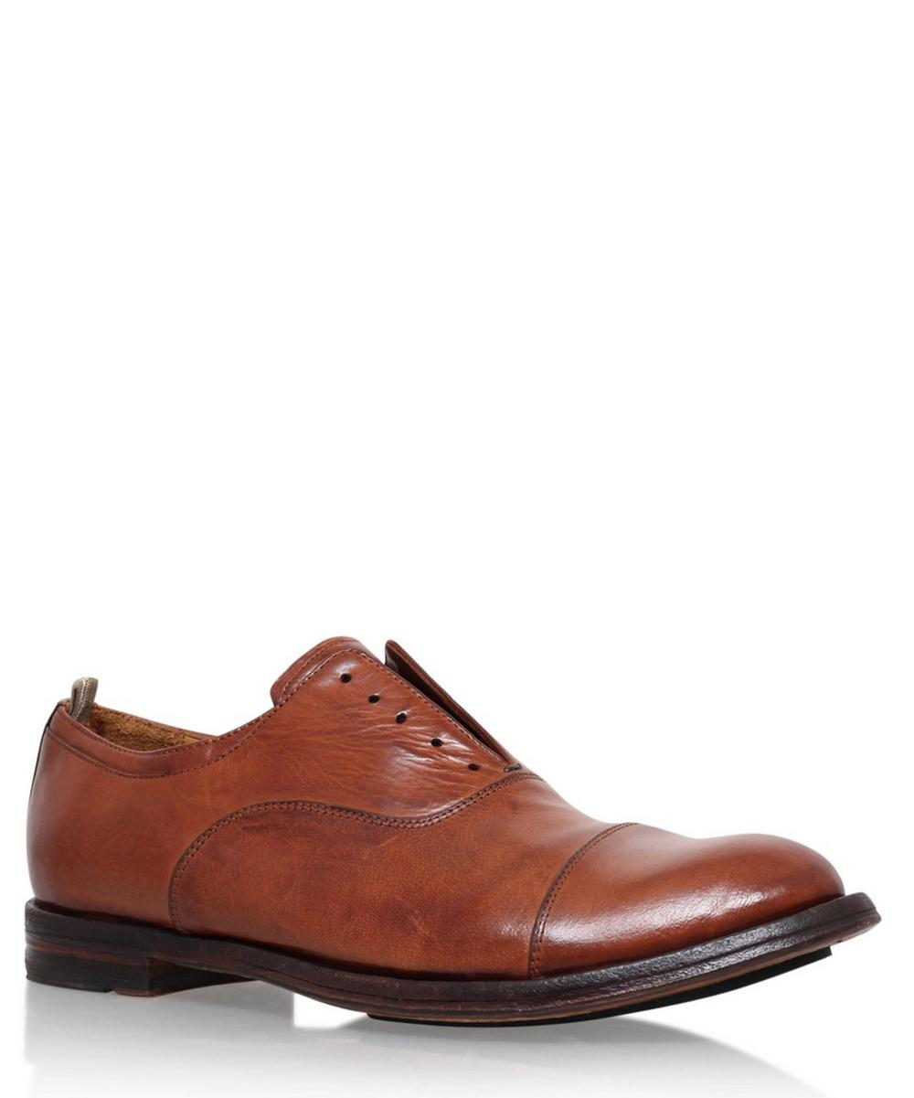 Officine Creative - Leather Toe Cap Oxfords