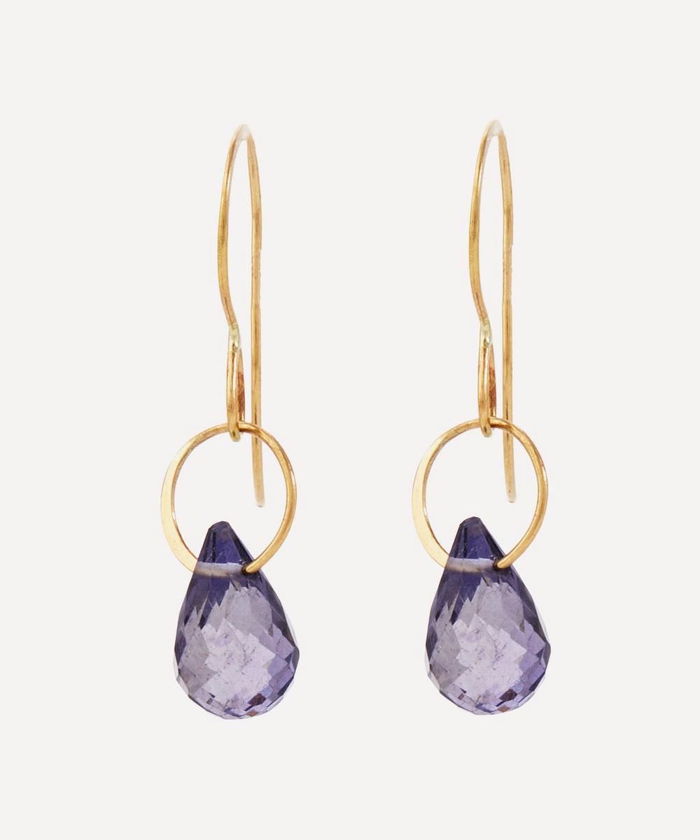 Melissa Joy Manning - Gold Single Iolite Drop Earrings