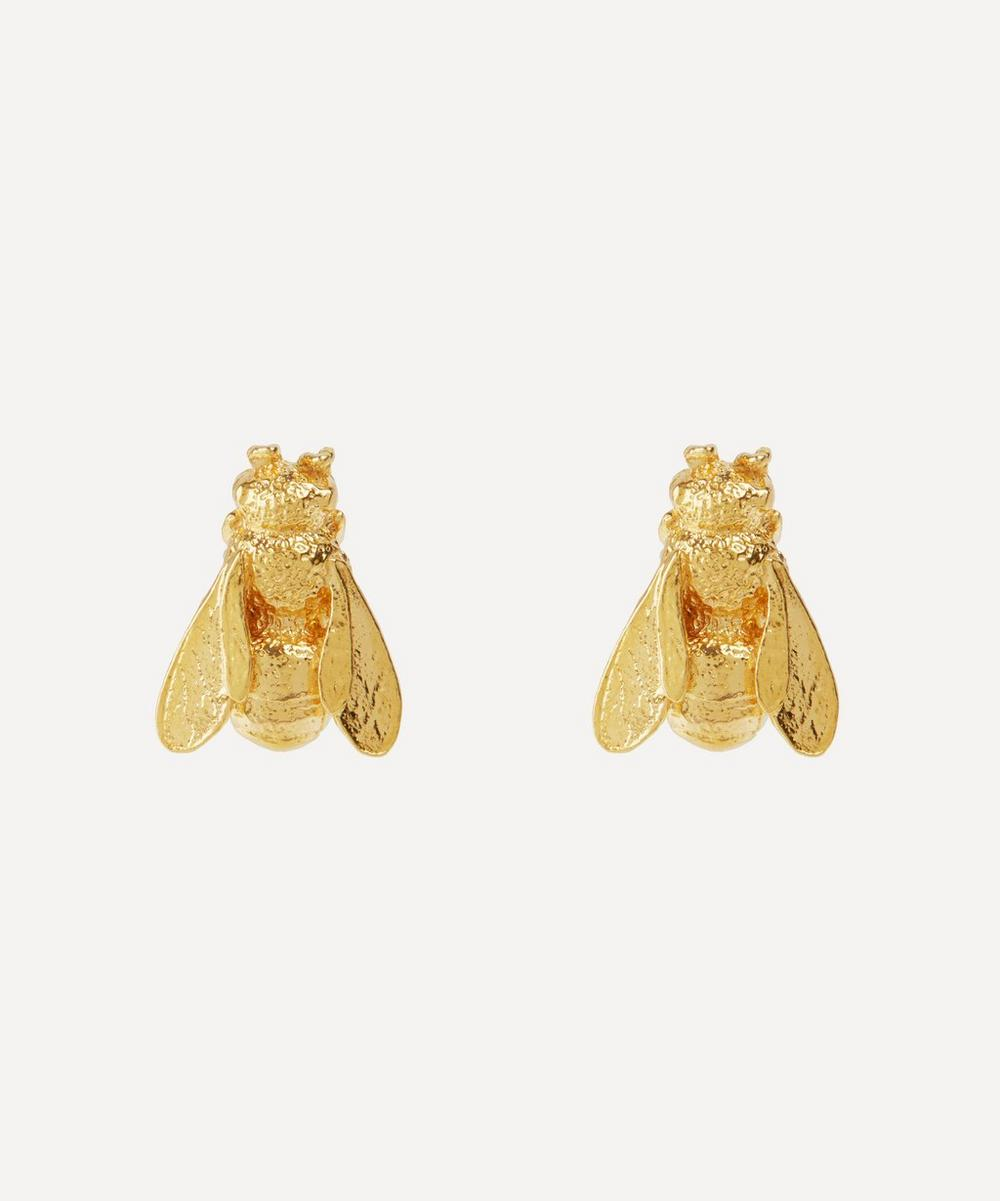 Alex Monroe - Gold-Plated Large Honey Bee Stud Earrings
