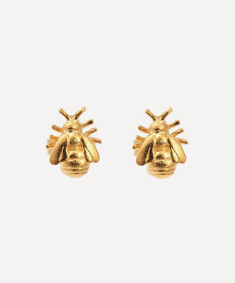 Alex Monroe - Gold-Plated Little Bee Stud Earrings