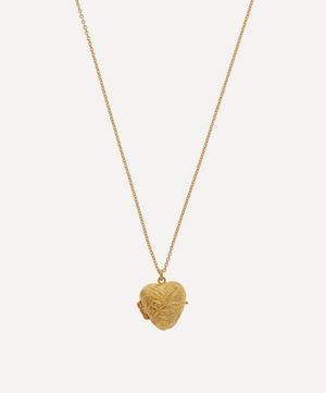 Gold-Plated Victoriana Keepsake Heart Locket Necklace