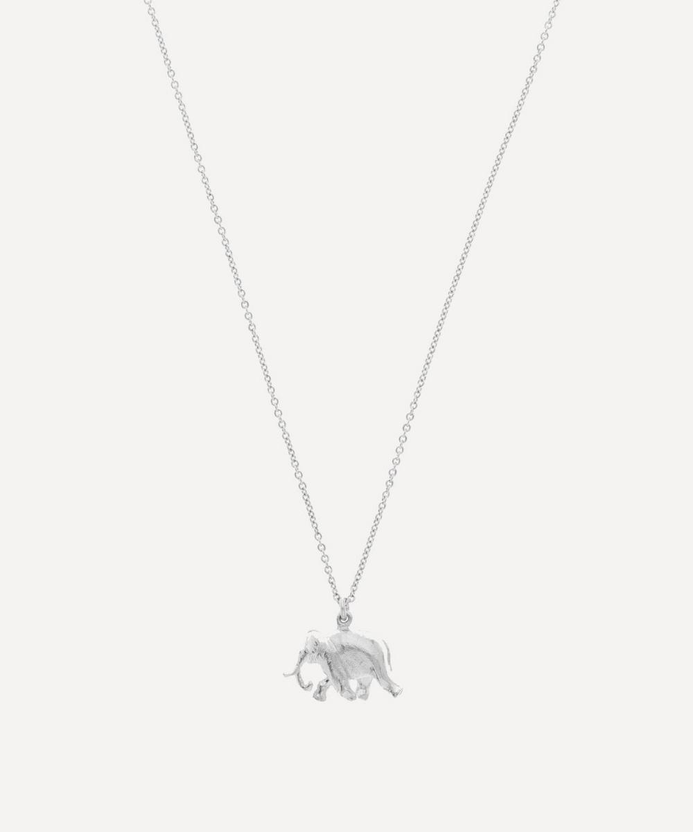 Alex Monroe - Silver Indian Elephant Pendant Necklace
