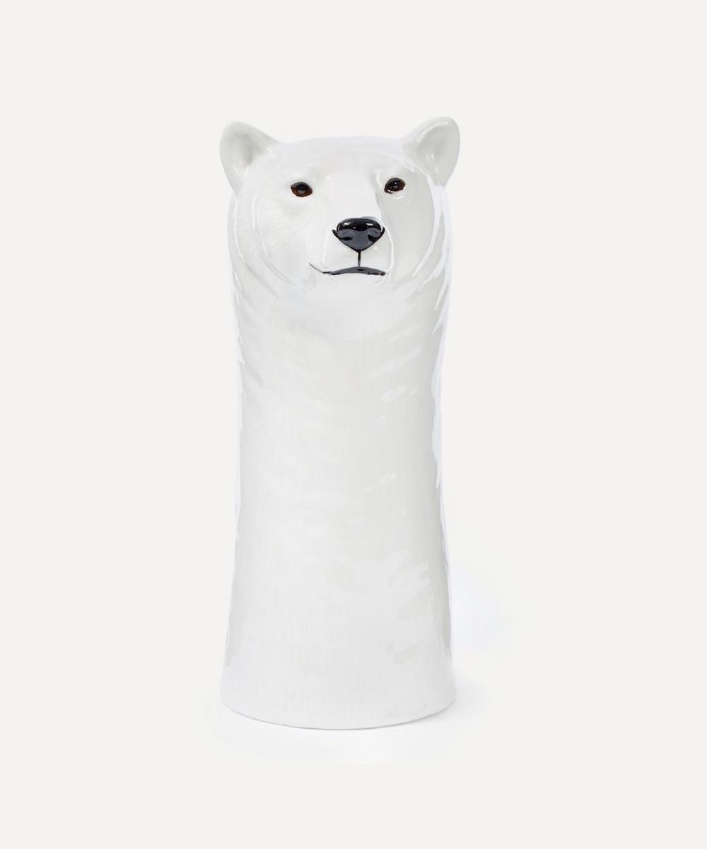 Quail - Large Polar Bear Vase