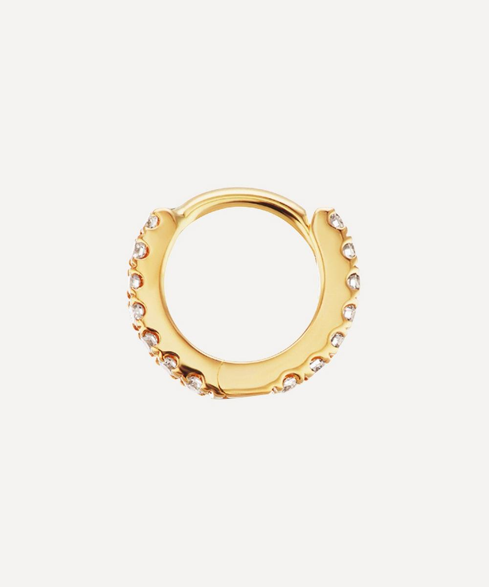 "Maria Tash - 3/16"" Diamond Eternity Hoop Earring"