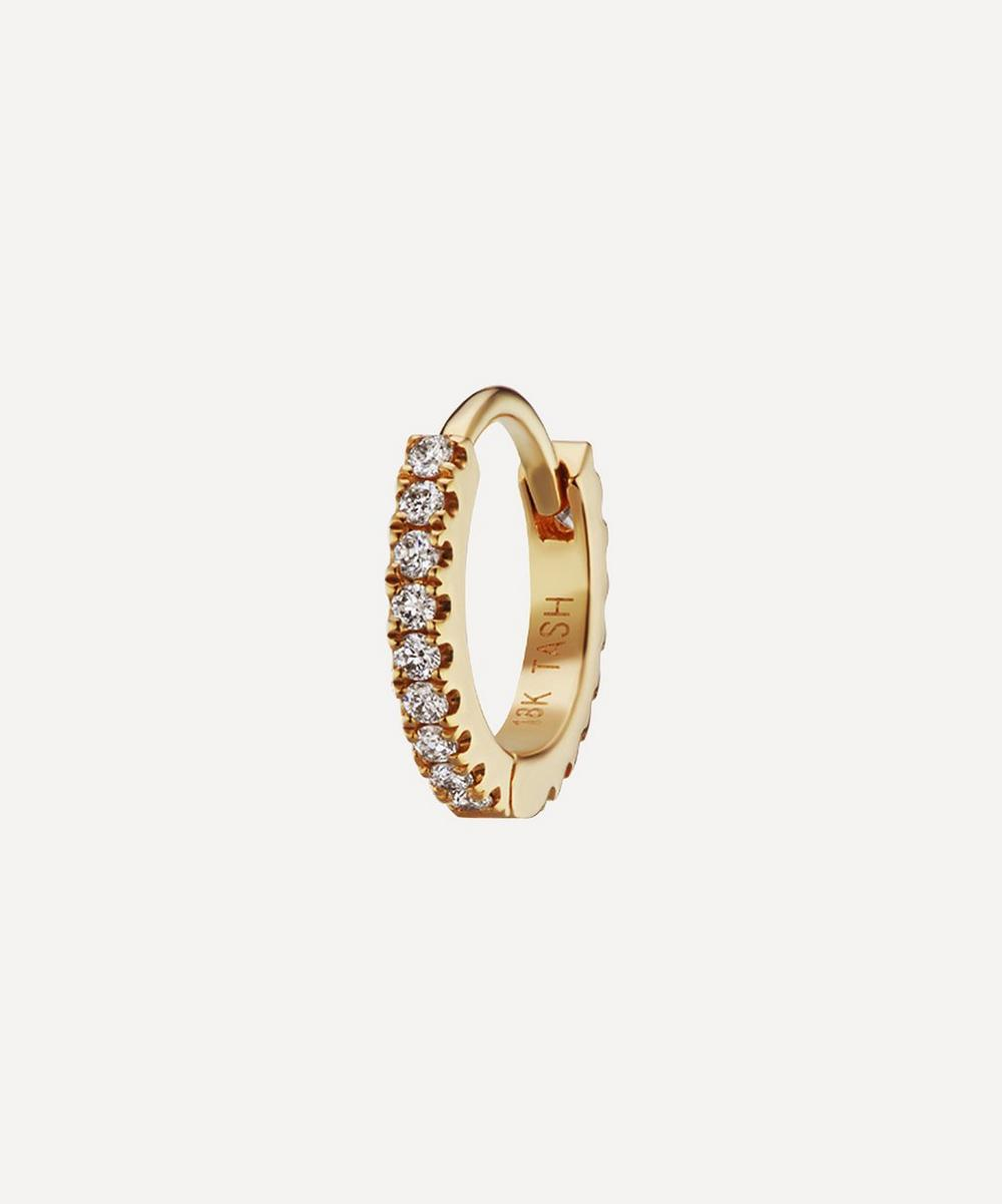 "Maria Tash - 1/4"" Diamond Eternity Hoop Earring"
