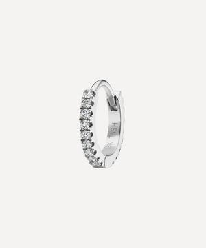 6.5mm Diamond Eternity Hoop Earring