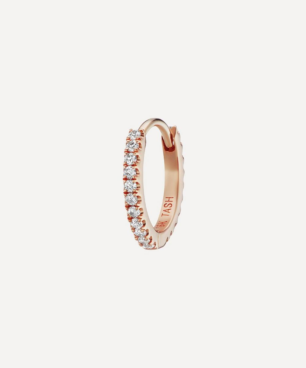 "Maria Tash - 5/16"" Diamond Eternity Hoop Earring"