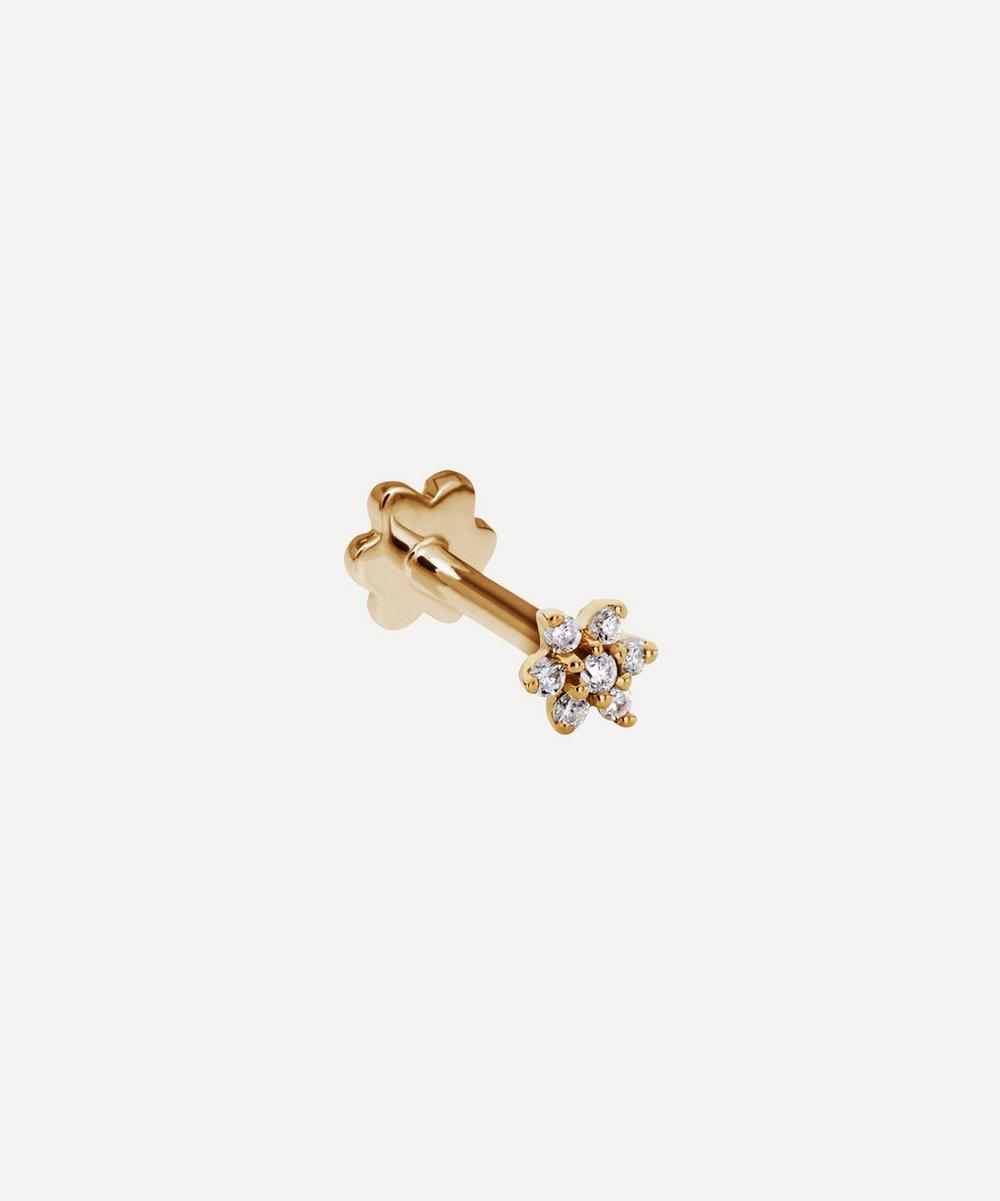 Maria Tash - 3mm Diamond Flower Threaded Stud Earring